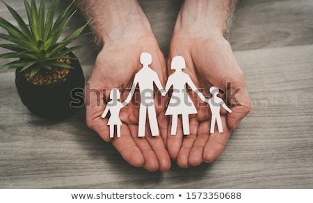 családi · élet · biztosítás · család · csoport · munkás · élet - stock fotó © CebotariN