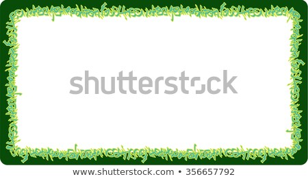 square rounded frame green neon graffiti tags on green Stock photo © Melvin07