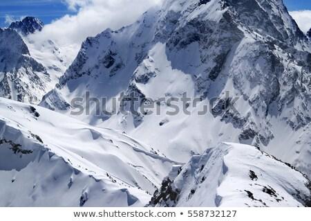 Snowboard śniegu słońce dzień kaukaz Zdjęcia stock © BSANI