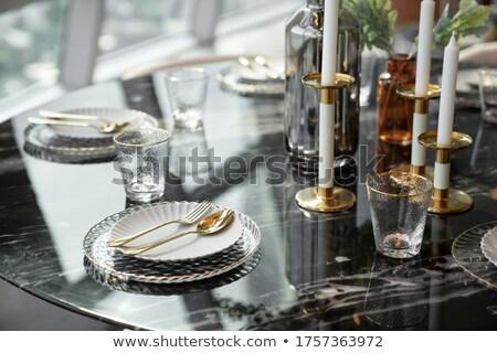 Stylish tableware Home Stock photo © maknt