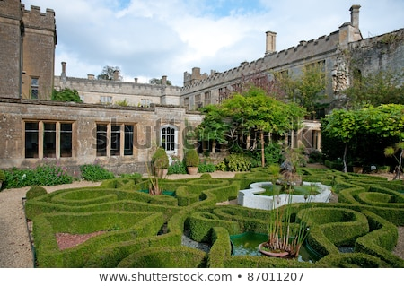 kasteel · tuin · bloem · tuinen · middeleeuwse · Engeland - stockfoto © Hofmeester