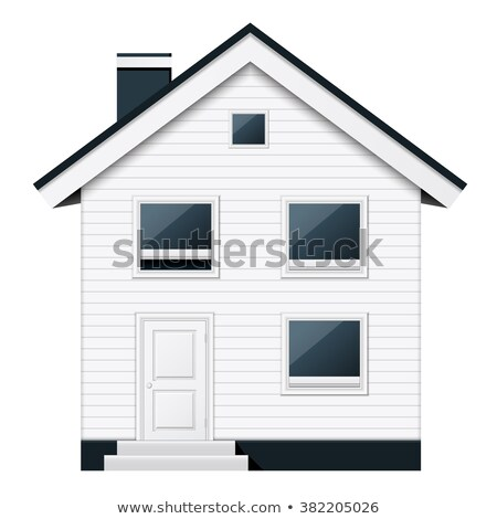 Boarded, two-storeyed suburban townhouse in scandinavian style Stock photo © Winner