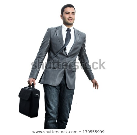 Arab businessman rushing isolated on white Stock photo © Elnur