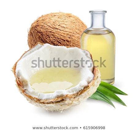кокосового · нефть · ложку · воды · продовольствие - Сток-фото © racoolstudio