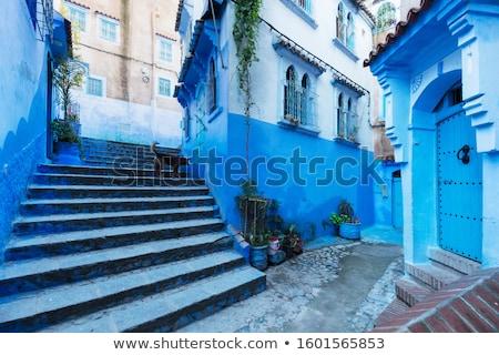 лестницы · двери · каменной · стеной · старые · текстуры - Сток-фото © dariazu