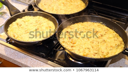 Stock photo: fried potatoes in the big pan