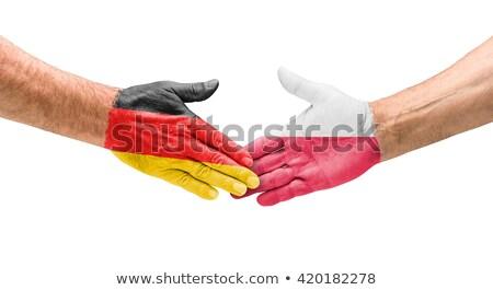 Football teams - Handshake between Germany and Poland Stock photo © Zerbor