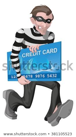 Soyguncu adam kredi kartı para çevrimiçi Stok fotoğraf © orensila