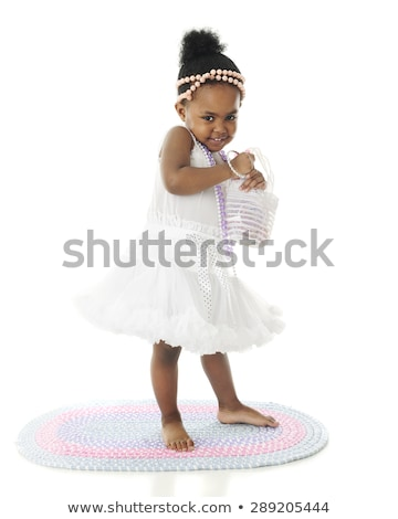 little girl with a pearl bracelet Stock photo © O_Lypa