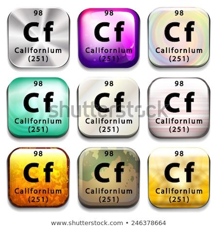 A button showing the element Californium Stock photo © bluering