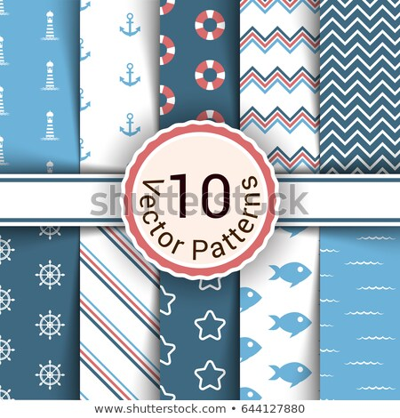 sem · costura · padrões · conjunto · projeto · elementos - foto stock © pakete