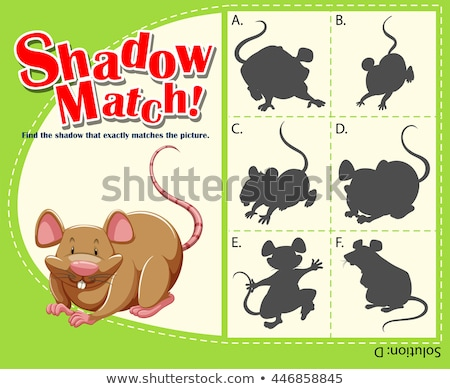 Game template with matching rat Stock photo © bluering