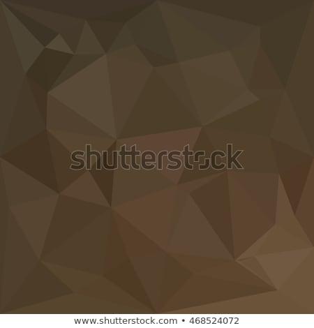 El bronz absztrakt alacsony poligon stílus Stock fotó © patrimonio