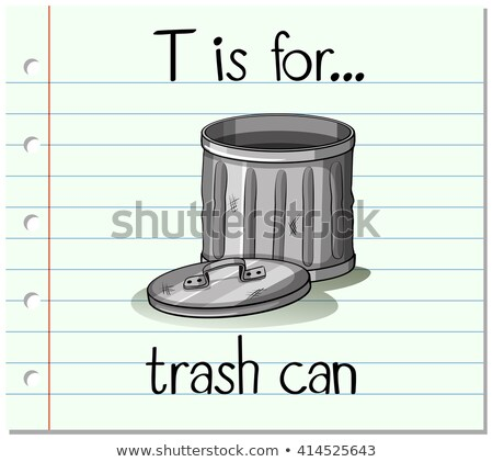 Flashcard alphabet T is for trashcan Stock photo © bluering