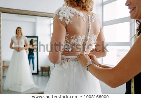 wedding dress fitting stock photo © adrenalina