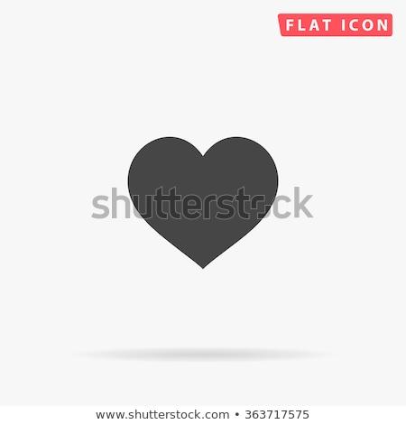 Emberi szív ikon feketefehér orvosi vér Stock fotó © angelp