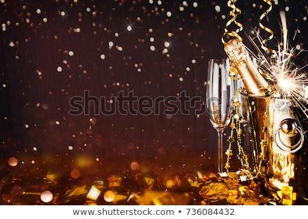 Novo anos brinde fogos de artifício explosão ilustração Foto stock © adrenalina