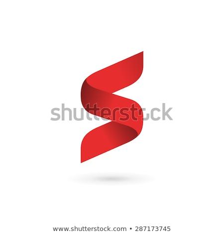 Brief logo sjabloon volume icon ontwerpsjabloon Stockfoto © Ggs