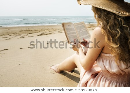 book with beach scene stock photo © bluering