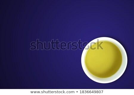 Beyaz fincan yeşil mavi katı doku Stok fotoğraf © 7Crafts