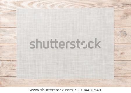 Vászon hely kicsi összehajtva szövet textil Stock fotó © Digifoodstock