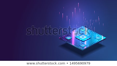 illusztráció · számítógép · mikrocsip · izolált · fehér · 3d · illusztráció - stock fotó © spectral
