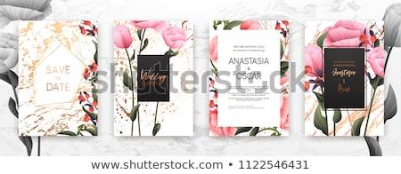 Minimalist floral background frame Stock photo © orson