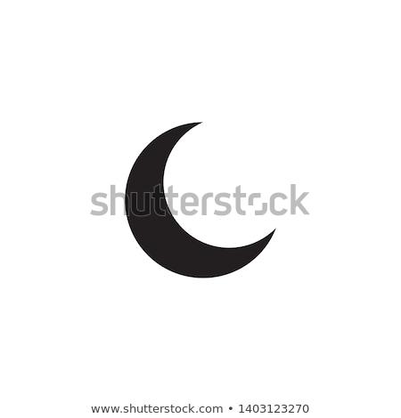 gyantázás · félhold · ikon · égbolt · természet · űr - stock fotó © creativika
