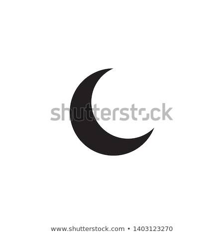 Crescent Moon Icon Stock photo © creativika