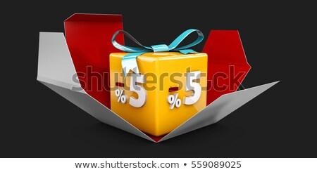 3d illusztráció piros árengedmény százalék el szürke Stock fotó © tussik