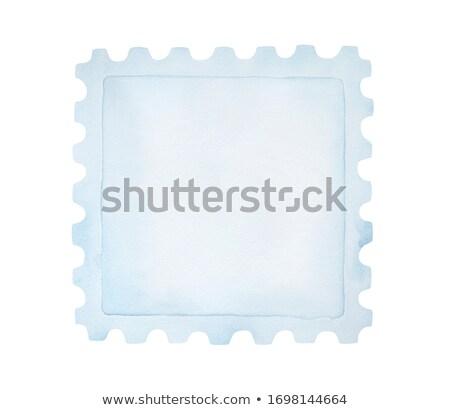 пусто штампа почтовая марка шаблон бумаги Сток-фото © Suljo