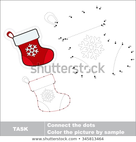 Dot-to-dot and coloring page with socks Stock photo © ratselmeister