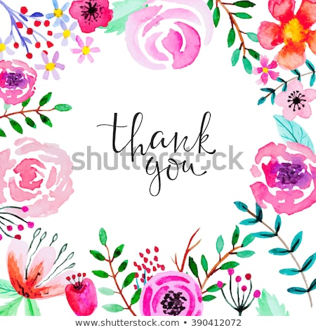 thank you lettering on red paint or watercolor Stock photo © SArts