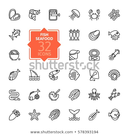 Cuttlefish line icon. Stock photo © RAStudio