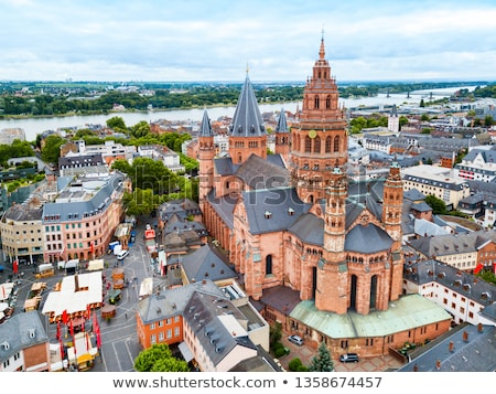 Mainzer Dom cathedral in Mainz in Germany Stock photo © meinzahn