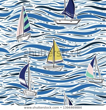 passeios · de · barco · barco · água · iate · ícone · vetor - foto stock © vertyr