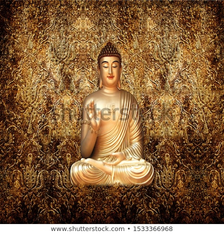 Altın Buda heykel tapınak altın dini Stok fotoğraf © ldambies