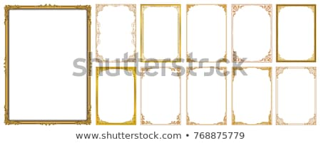 vector set of decorative corner borders and frames in gold stock photo © blue-pen