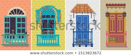 colonial windows stock photo © brandonseidel