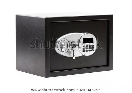 Preto seguro depósito caixa 3d render Foto stock © albund