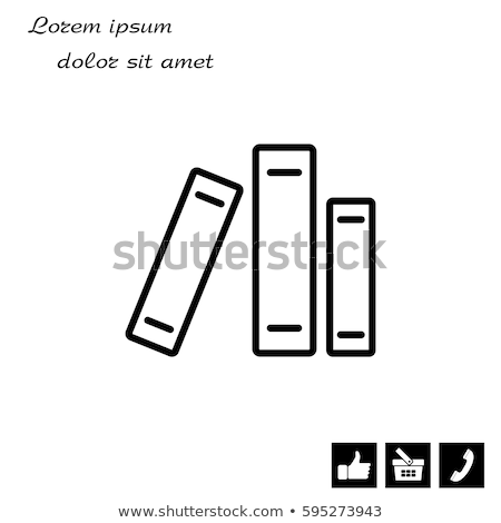 Linha ícone vetor isolado branco Foto stock © RAStudio