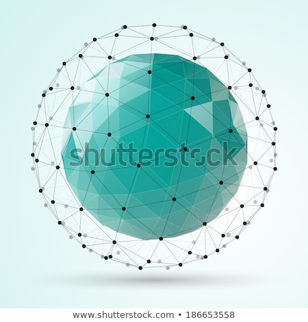 аннотация · вектора · многоугольник · форма · низкий · сфере - Сток-фото © fresh_5265954