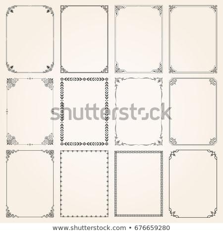 decorativo · esquinas · marcos · vintage · estilo · vector - foto stock © blue-pen