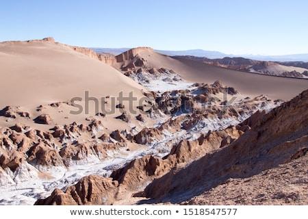 Areia la paisagem nuvens deserto azul Foto stock © daboost