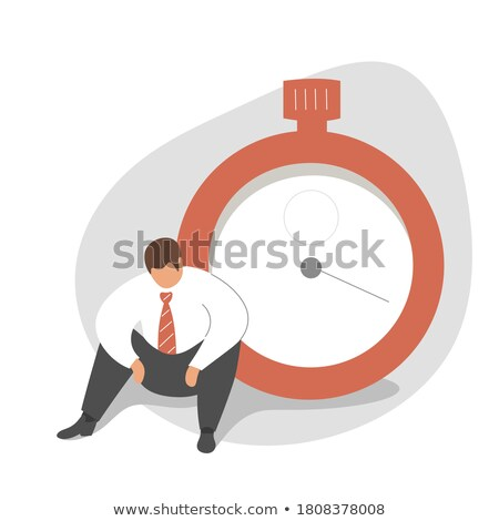 Businessman sitting on giant clock Stock photo © Kirill_M