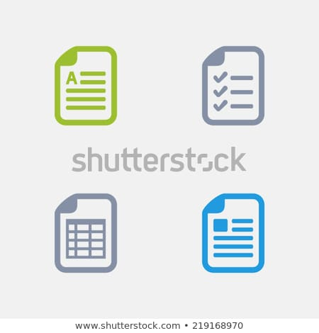 Document Types - Granite Icons stock photo © micromaniac