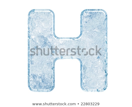Ice font letter H 3D Stock photo © djmilic