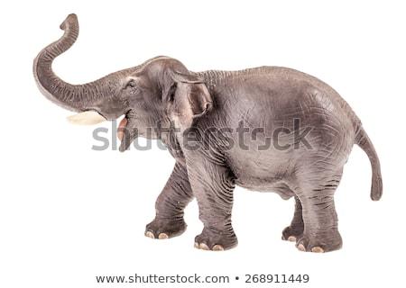 Játék elefánt szobrocska Kína izolált fehér Stock fotó © restyler