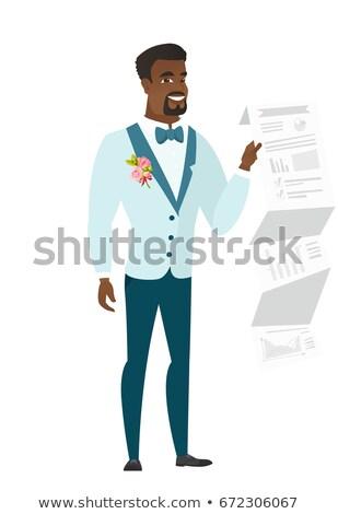 花婿 文書 プレゼンテーション 結婚式 スーツ ストックフォト © RAStudio