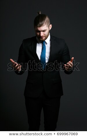 super happy young business man with eyes closed stock photo © feedough